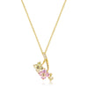Goldtone Multi-Butterfly Pendant