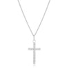 Simple Silvertone Cross Pendant