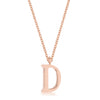 Elaina Rose Gold Stainless Steel D Initial Necklace