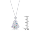 Multicolor Christmas Tree Drop Necklace