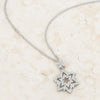 Stella 0.3ct CZ White Gold Rhodium Star Drop Necklace