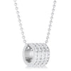 Dreya 1.1ct CZ Rhodium Stainless Steel Necklace