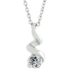 Silvertone Finish Twist Pendant