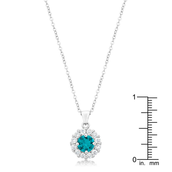 Bella Bridal Pendant in Aqua