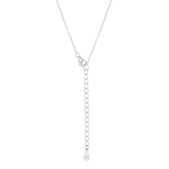 Classic Mystic Cubic Zirconia Rhodium Drop Necklace