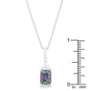 Classic Mystic Cubic Zirconia Sterling Silver Drop Necklace
