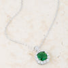 Liz 2.6ct Emerald CZ White Gold Rhodium Classic Necklace