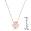 Maya 1.28ct CZ Rose Gold Rose Drop Pendant