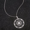 1.4 Ct Rhodium Pendant Necklace with Interlocking Circles and CZ