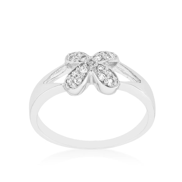 Simple Flower CZ Ring