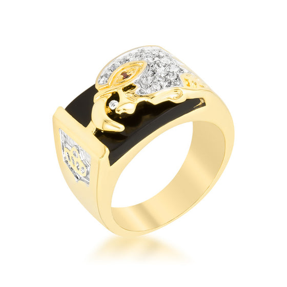 Cubic Zirconia Eagle Men's Ring