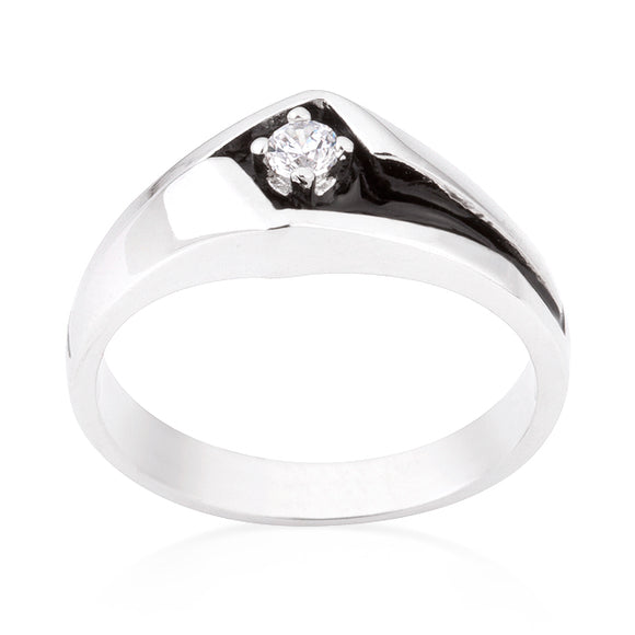 Two-Tone Sleek Men's Ring