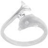 Tension Set Dolphin Ring