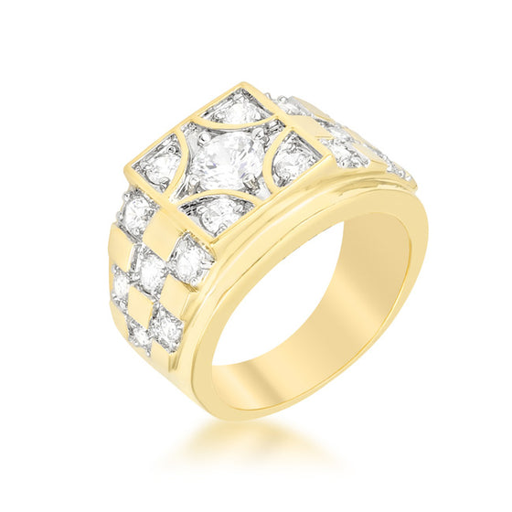Checkerboard Cubic Zirconia Ring