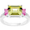Emerald Cut Triplet Ring