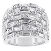 Multi Row Cubic Zirconia Fashion Ring
