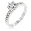 Petite White Engagement Ring