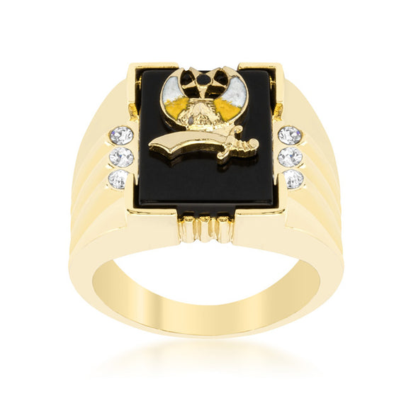 3-Stone Shriners Men's Ring