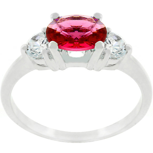 Oval Quartet Cubic Zirconia Ring