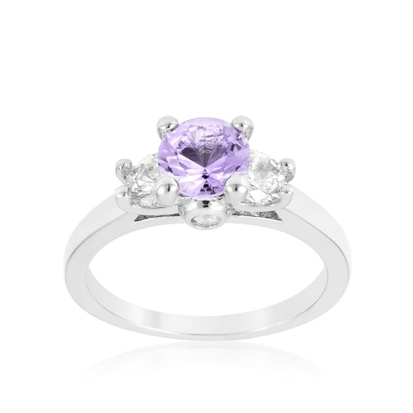 Mini Lavender Triplet Ring