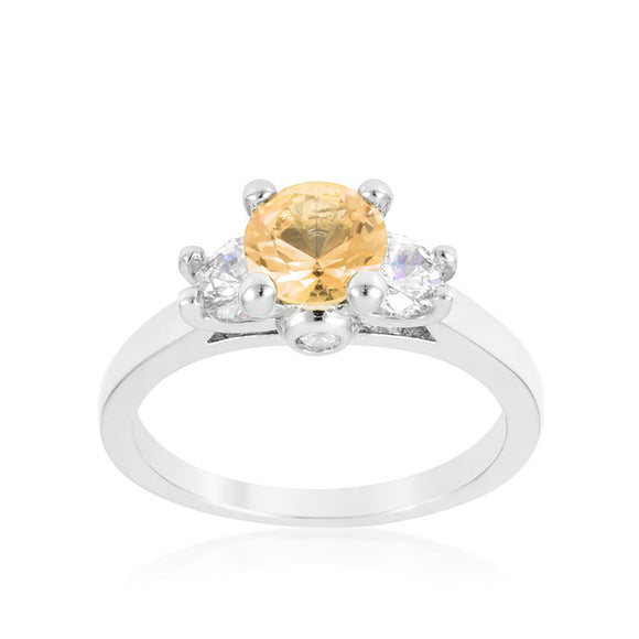 Mini Champagne Triplet Ring