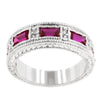 Ruby Red Bezel Eternity Band