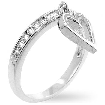 Silvertone Cupid Eternity Ring