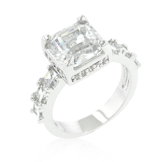Asscher Cut Engagement Ring