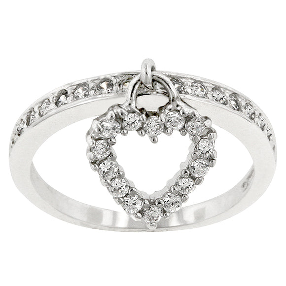 Simple Heart Charm Ring