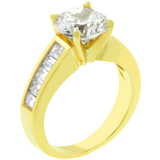 Classic Golden Engagement Ring