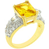 Yellow Cubic Zirconia Fashion Ring