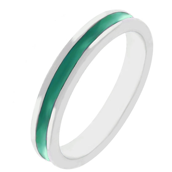 Green Enamel Eternity Ring