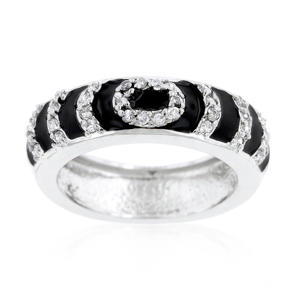 Black Ripple Ring