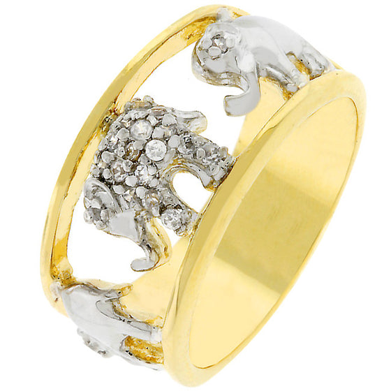Pave Elephant Ring