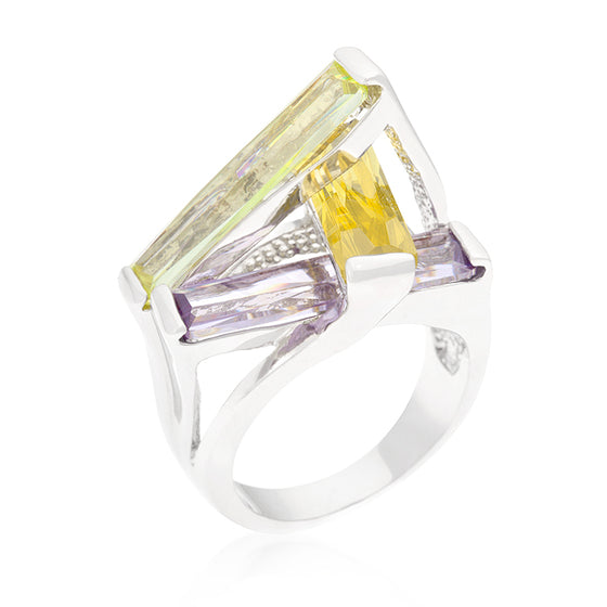 Crystalline Sculpture Cocktail Ring