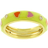 Sorbet Enamel Hearts Ring