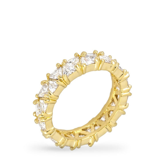 Golden Trillion Eternity Ring