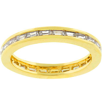 Golden White Eternity Ring
