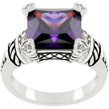 Amethyst Eyes Antique Ring