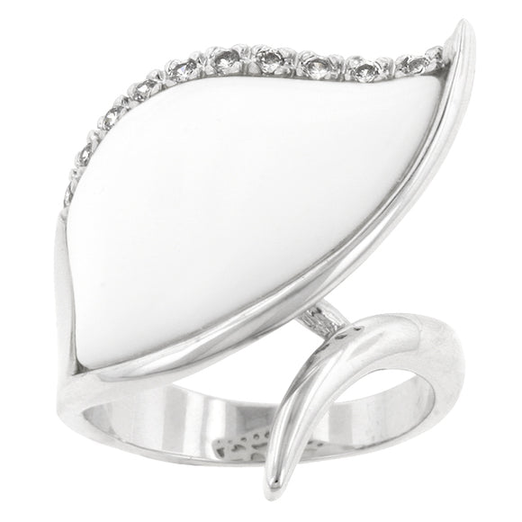 Snow Cap Cocktail Ring