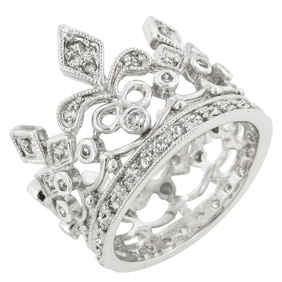 Cubic Zirconia Crown Eternity Ring