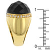 Black Beauty Faceted Onyx Ring