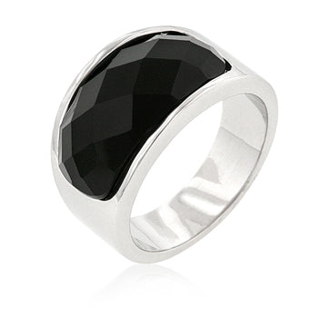 Onyx Block Cocktail Ring