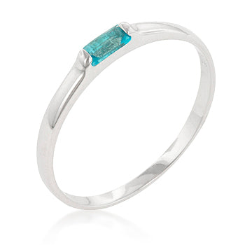 Blue Topaz Petite Solitaire Ring