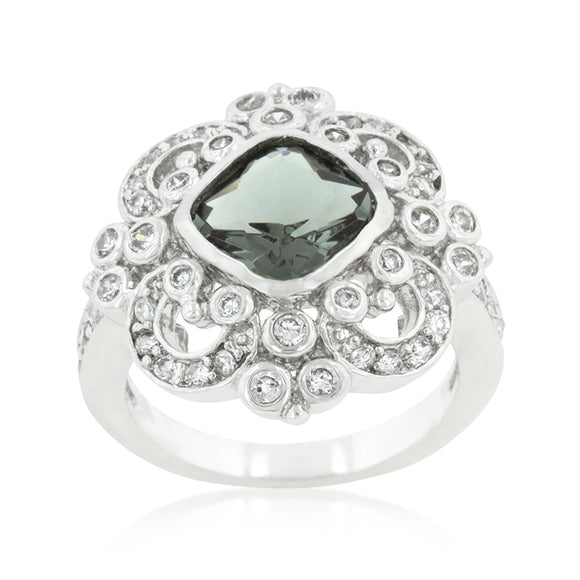 Elegant Smokey Crest Ring