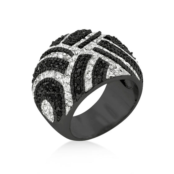 Black And White Cocktail Ring