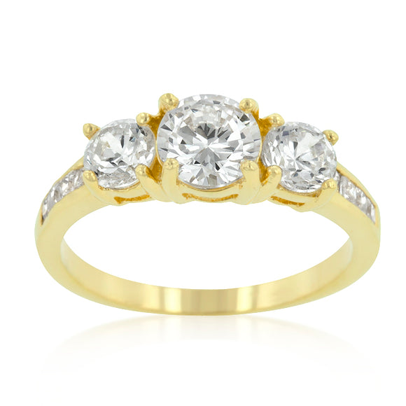Triplet Golden Wedding Ring