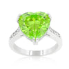 Apple Green Heart Ring