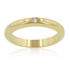 Solitaire Cubic Zirconia Golden Wedding Band