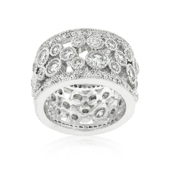 Clear Filigree Eternity Band